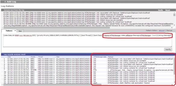 log4j admin 2 message after regular expression